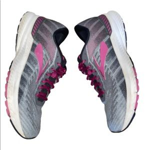Brooks Ravenna 10  Running Shoes Grey Magenta 8.5